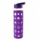 Бутылка Summit MyBento Eco Glass Bottle Sports Lid Silicone Cover фиолетовая 550 мл - фото 1