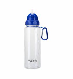 Спортивная бутылка для воды Summit MyBento Bottle With Flip Straw синяя 700 мл