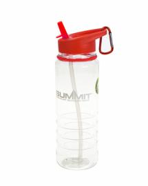 Бутылка Summit Tritan Water Bottle с соломинкой и карабином красная 700 мл