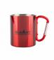 Кружка с ручкой-карабином Summit Carabiner Handled Mug красная 300 мл - фото 1