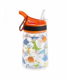 Бутылка для воды Summit Kids Boys c соломинкой и карабином оранжевая 350 мл