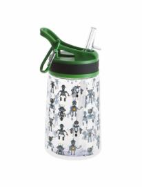 Бутылка для воды Summit Kids Boys c соломинкой и карабином зеленая 350 мл