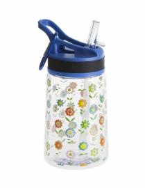 Бутылка для воды Summit Kids Girls c соломинкой и карабином синяя 350 мл