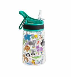 Бутылка для воды Summit Kids Girls c соломинкой и карабином зеленая 350 мл