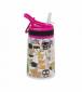 Бутылка для воды Summit Kids Girls c соломинкой и карабином розовая 350 мл - фото 1