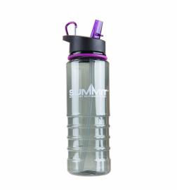 Бутылка Summit Tritan Bottle с соломинкой и карабином фиолетовая 700 мл