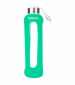 Бутылка для воды Summit MyBento Eco Glass Bottle Silicone Cover зеленая 500 мл - фото 1