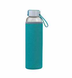 Бутылка для воды Summit MyBento Eco Glass Bottle Neoprene Cover голубая 550 мл