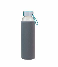Бутылка для воды Summit MyBento Eco Glass Bottle Neoprene Cover серая 550 мл