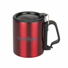 Термокружка Summit Double Walled Mug Clip Handle с крышкой красная 300 мл