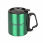 Термокружка Summit Double Walled Mug Clip Handle с крышкой зеленая 300 мл - фото 1