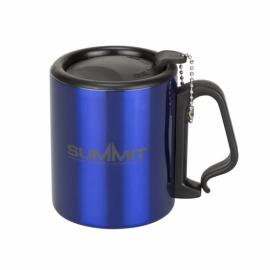 Термокружка Summit Double Walled Mug Clip Handle с крышкой синяя 300 мл