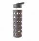 Бутылка Summit MyBento Eco Glass Bottle Sports Lid Silicone Cover серая 550 мл - фото 1