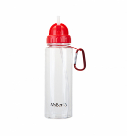 Спортивная бутылка для воды Summit MyBento Bottle With Flip Straw красная 700 мл