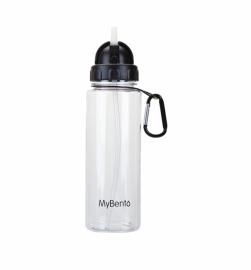 Спортивная бутылка для воды Summit MyBento Bottle With Flip Straw черная 700 мл