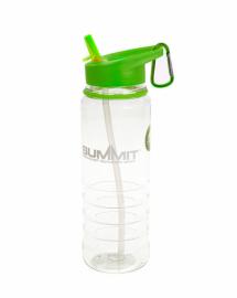 Бутылка Summit Tritan Water Bottle с соломинкой и карабином зеленая 700 мл