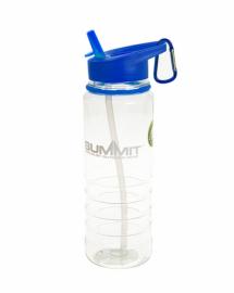 Бутылка Summit Tritan Water Bottle с соломинкой и карабином синяя 700 мл