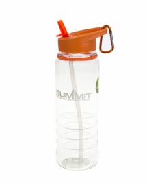 Бутылка Summit Tritan Water Bottle с соломинкой и карабином оранжевая 700 мл