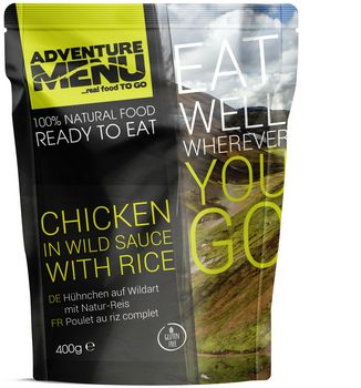 Готовое блюдо Курица в остром соусе с рисом Adventure Menu Chicken in wild sauce with rice