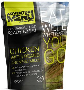 Готовое блюдо Курица с бобами и овощами Adventure Menu Chicken with beans and vegetables