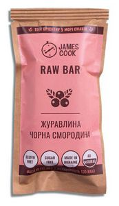 Батончик Raw Bar Клюква-Черная Смородина James Cook