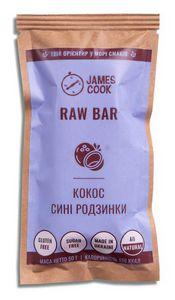 Батончик Raw Bar Кокос-Синий Изюм James Cook