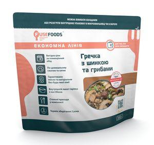 Готовое блюдо Гречка с ветчиной и грибами Fuse Foods
